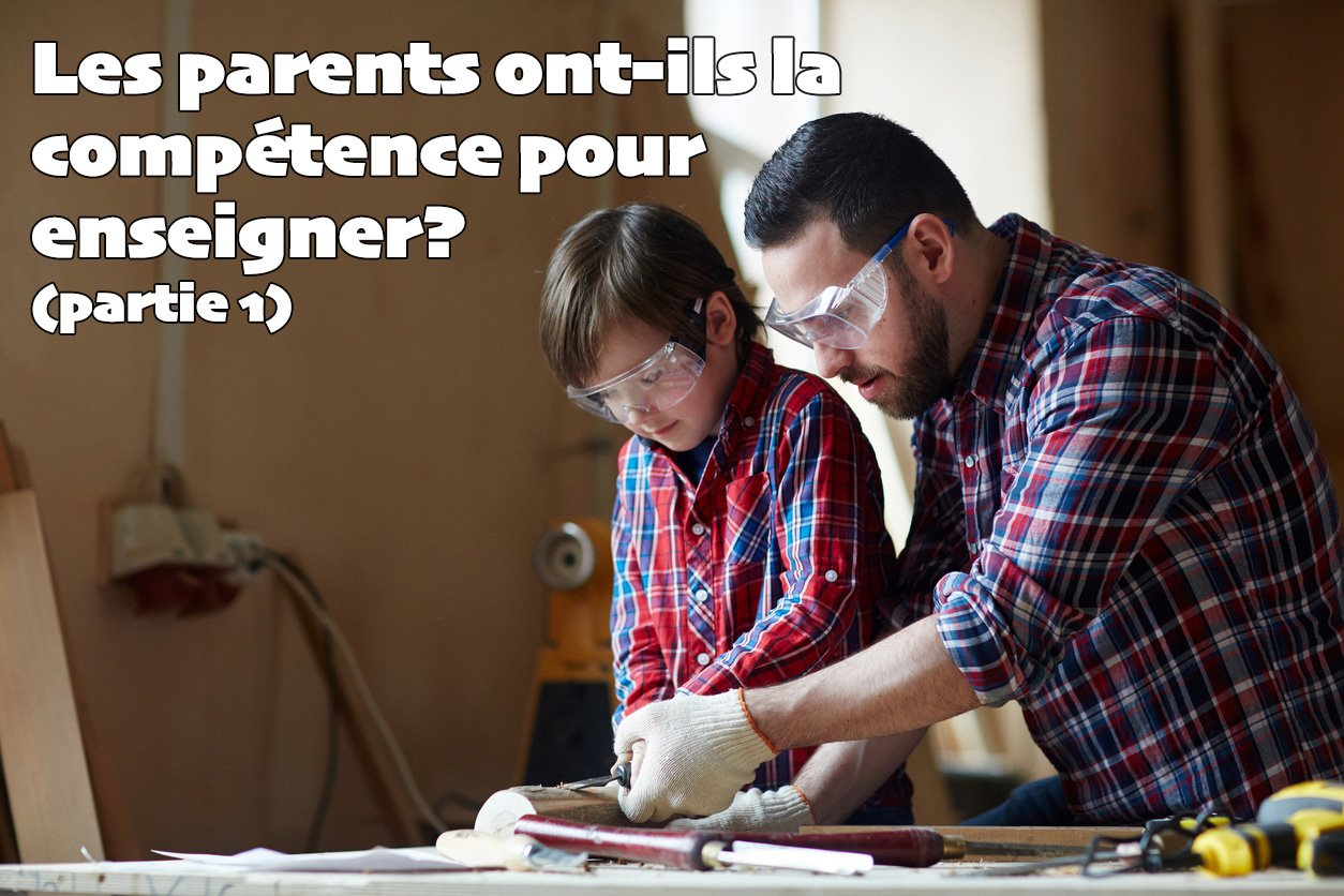 Father teaching son wood carving