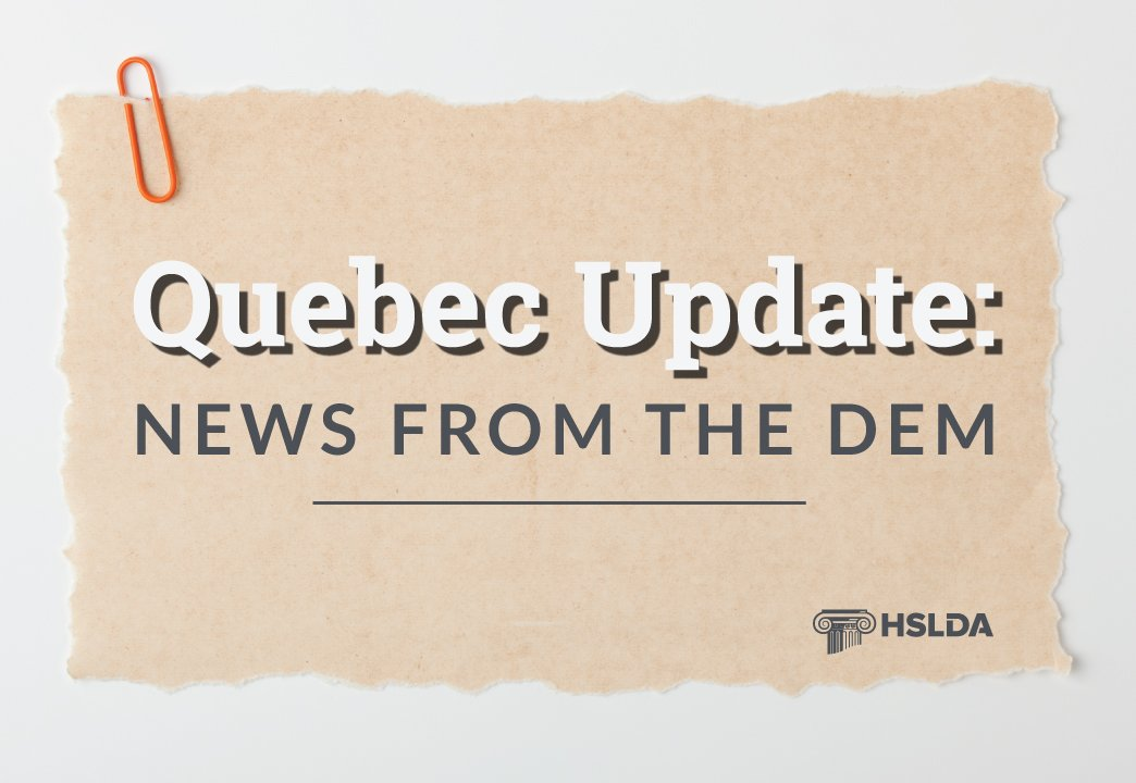 Quebec Update: News from the DEM