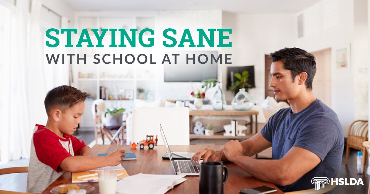 Staying sane with school at home